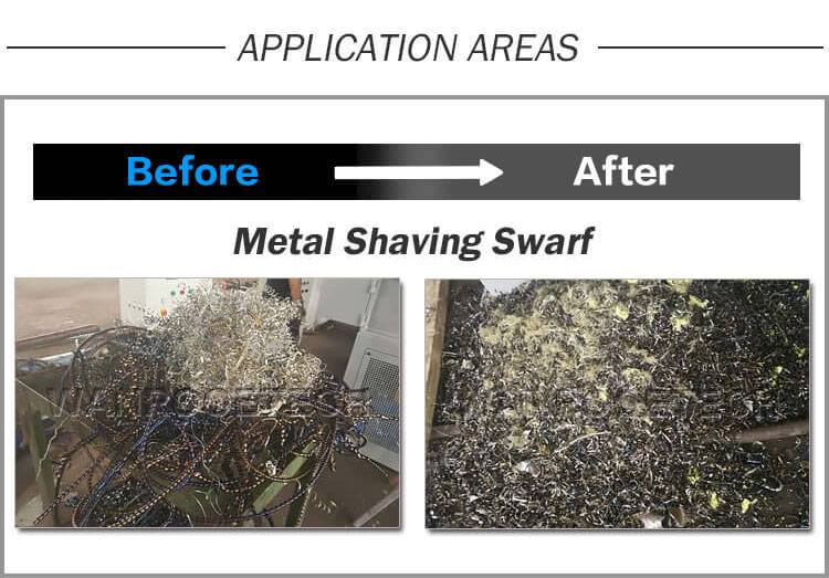 Cast Iron Shavings Shredder,Metal Shredder,Metal Shaving Swarf Shredder,Aluminum Cans Scrap Shredder