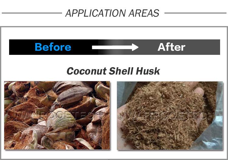 Coconut Husk Shredder, Coconut Coir Shredder, Coconut Fiber shredder,Coconut Shell Shredder
