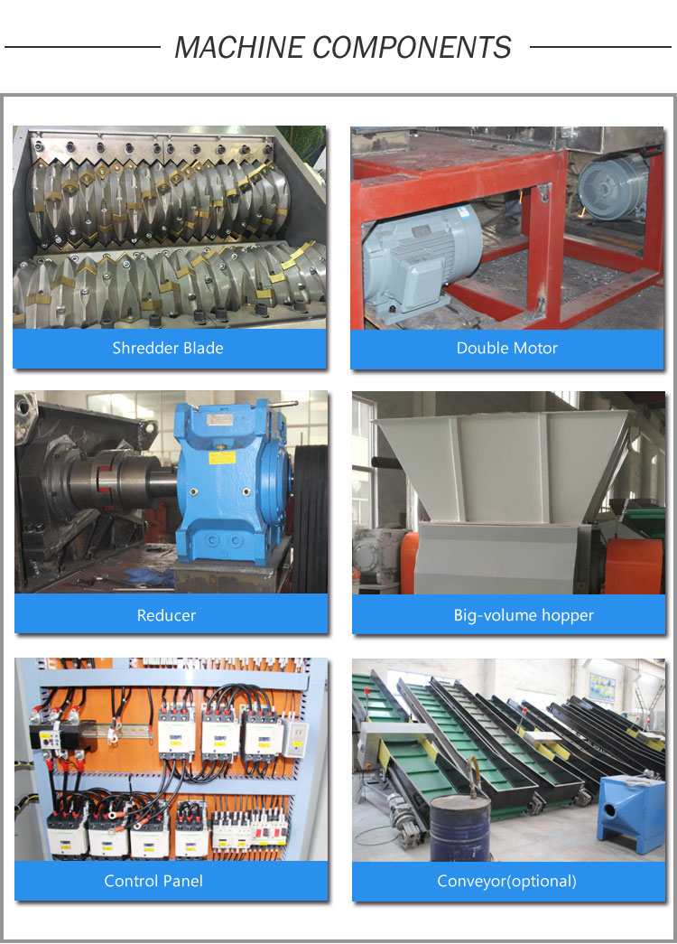 Woven Bag Shredding Machine, Shopping Bag Shredder, Garment Bag Shredder, Bulk Bag Shredder, Woven Bag Recycling Machine