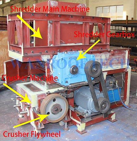 HDPE Pipe PVC Pipe Shredder Crsusher Grinder Granulator