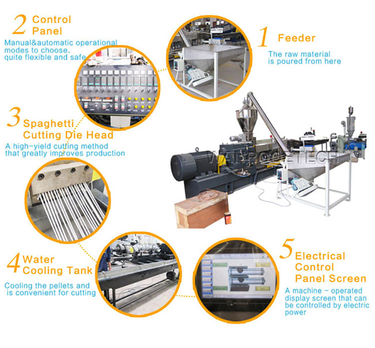 PET recycling machine, PET strand pelletiser, PET pelletizing production line, PET recycling machine