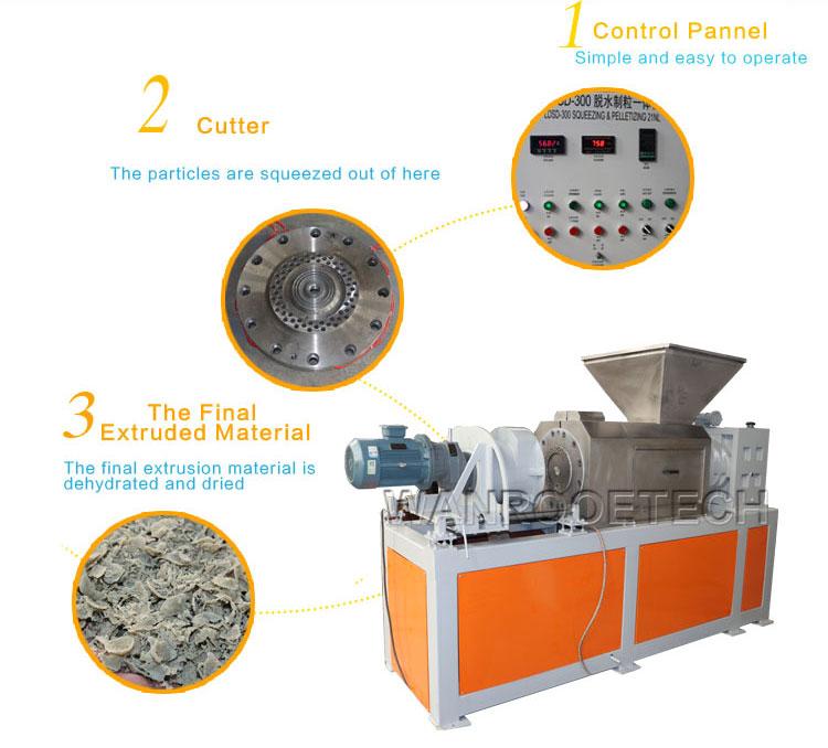 PP Woven Bag Squeezing Pelletizing Machine, Plastic Granules Making Machine, Plastic Film Squeezing Pelletizing Machine, Plastic Granulator