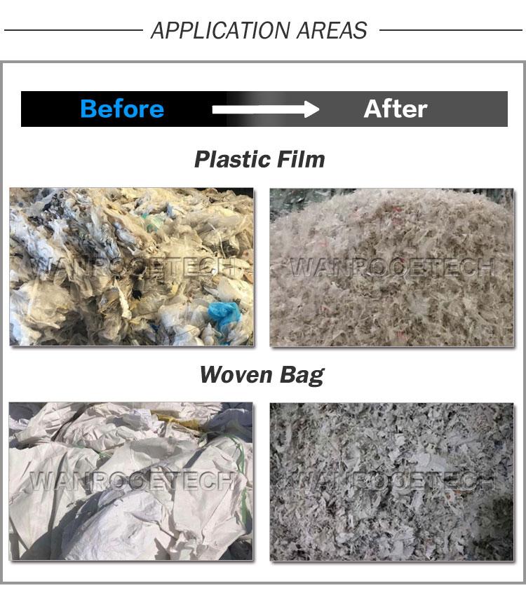 Plastic Film Crusher Granulator, Woven Bag Crusher Granulator, Plastic Film Recycling Machine, Woven Bag Recycling Machine