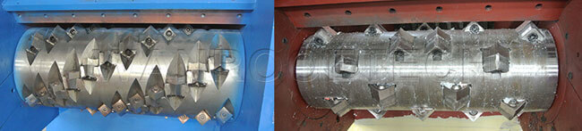 Single Shaft Shredder shaped blade