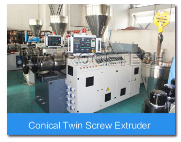 PVC Conical Twin Screw Extruder Machine,PVC Extruder,PVC Pipe Extrusion Line,PVC Pipe Extrusion Machine