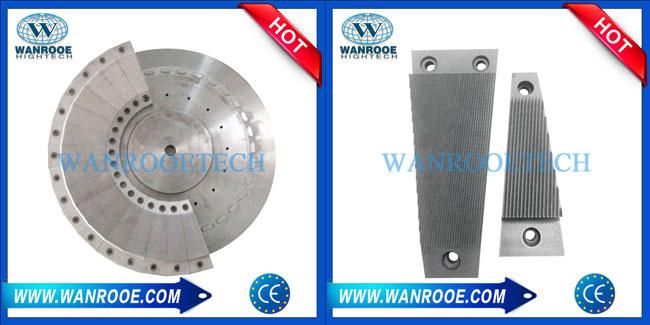One-piece plastic pulverizer grinding disc blade